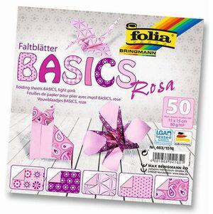 folia Faltblätter Basics rosa 4631515