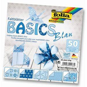 folia Faltblätter Basics blau 4641515