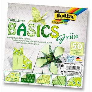 folia Faltblätter Basics grün 4651515