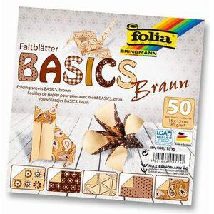 folia Faltblätter Basics braun 4661515