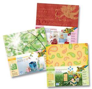folia Designpapier Blumen 10101A1