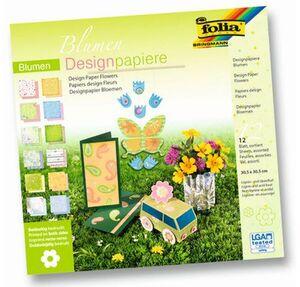 folia Designpapier Block Blumen 10149
