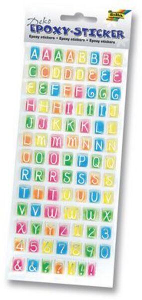 folia Sticker Epoxy Zahlen & Buchstaben 16105A1