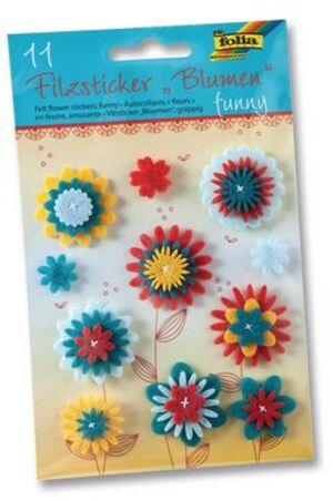 folia Filzsticker Blumen Funny 5271