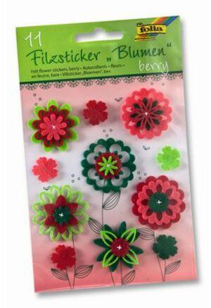 folia Filzsticker Blumen Berry 5274A2