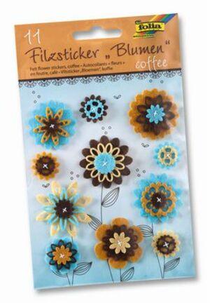 folia Filzsticker Blumen Coffee 5275A2