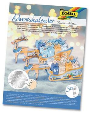 folia Adventskalender Rentierschlitten 9397