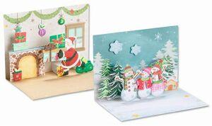 folia Weihnachtskarten-Set 3D 11605