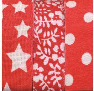 Glorex Textilbänder selbstklebend Rot 68619703