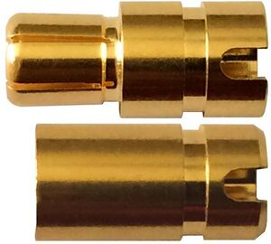 Muldental 6mm Gold Stecker + Buchse 83615