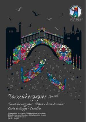 URSUS Tonzeichenpapier 130 g/m 2 Pastell 2144699SE