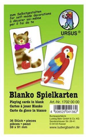 URSUS Blanko Spielkarten 17020000