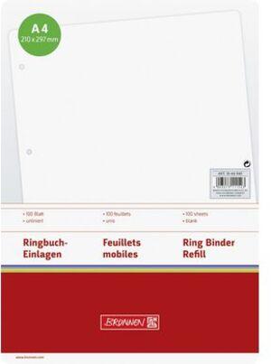 BRUNNEN Ringbucheinlagen A4 blanko 1066940
