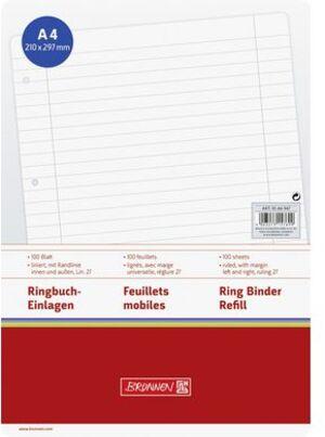 BRUNNEN Ringbucheinlagen A4 liniert 1066947