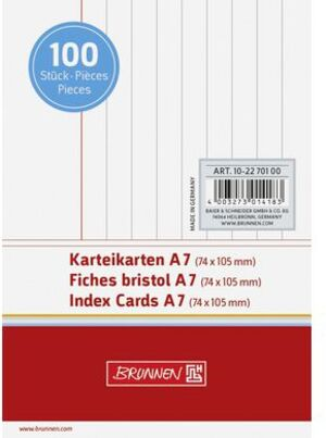 BRUNNEN Karteikarten A7 liniert 102270100