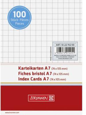 BRUNNEN Karteikarten A7 kariert 102270200