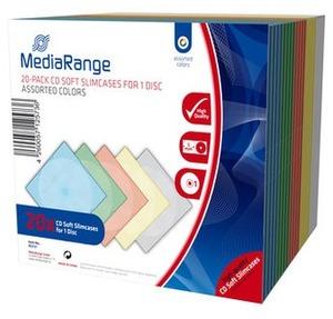 MediaRange CD / DVD Retail Pack 20er Slimcase Color BOX37
