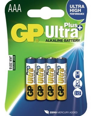 GP Batteries UltraPlus Alkaline Batterie AAA 3024AUP-U4