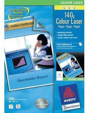 AVERY Zweckform 1798-200 Classic Colour Laser Papier, DIN A4, beidseitig beschichtet, 150 g/m², 200 Blatt 1798-200