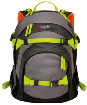iKON Rucksack Black & Grey 80200-00