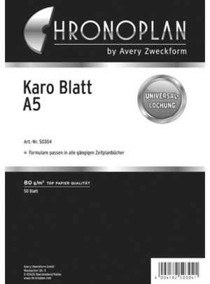 AVERY Zweckform CHRONOPLA Chrono.Blatt kariert A5 50304Z19