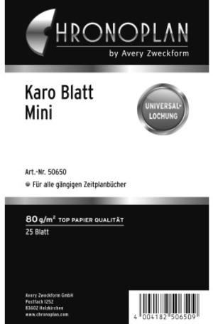 AVERY Zweckform CHRONOPLA Chrono.Blatt kariert Mini 50650Z19