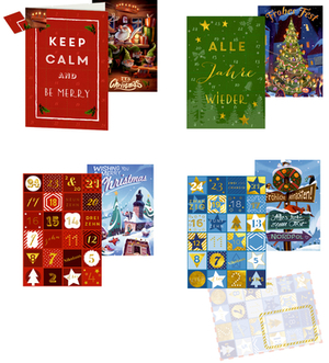 Neutral Weihnachts-Countdown 11,5x16, 92677