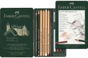 FABER-CASTELL FABER-CA. Monochrome Graphite-Set PITT 112975