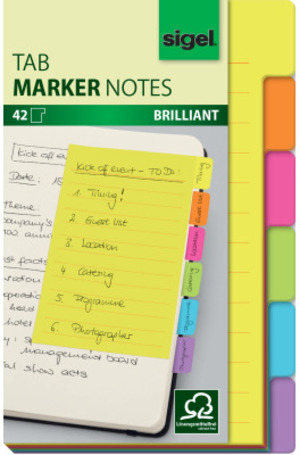 Sigel TabMarker Notes HN205