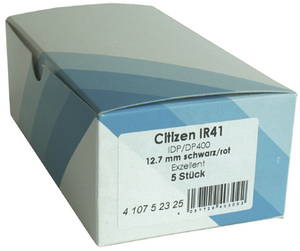 Citizen Farbband Nylon schwarz/rot 410752325