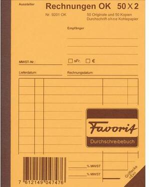 Favorit Formularbuch Rechnungen A6 9201OK