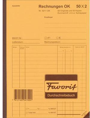 Favorit Formularbuch Rechnungen A5 9211OK