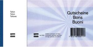 Favorit Geschenk-Gutscheine D/F/I 2059blau