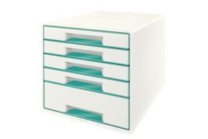 Esselte Leitz LEITZ Schubladenbox WOW Cube A4 52142051