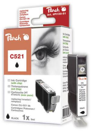 PEACH Tintenpatrone schwarz PI100-81