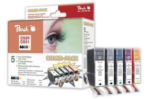 PEACH Combi-Pack 520/521 2xBK, CMY PI100-88