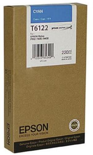 EPSON Tintenpatrone cyan T612200