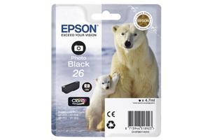 EPSON Tintenpatrone photo schwarz T26114010