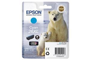 EPSON EPSON Tintenpatrone 26XL HY cyan T26324010