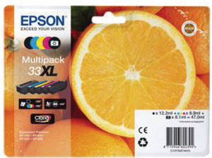 EPSON Ink Cart. C13T33574010 für Expression Home XP-530/ 630/635/830 Multipack XL C13T33574010A1