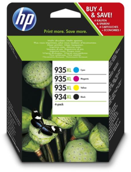 HP 934XL/935XL Original Tinte Hohe Kapazität C/M/Y/K 4er Pack X4E14AE