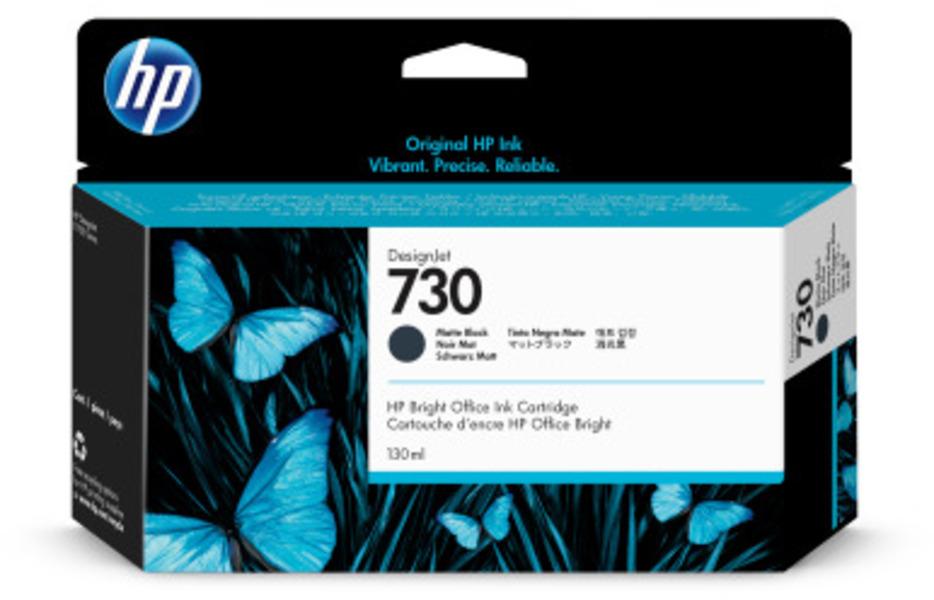 HP 730 130 ml Tinte Matt Schwarz P2V65A