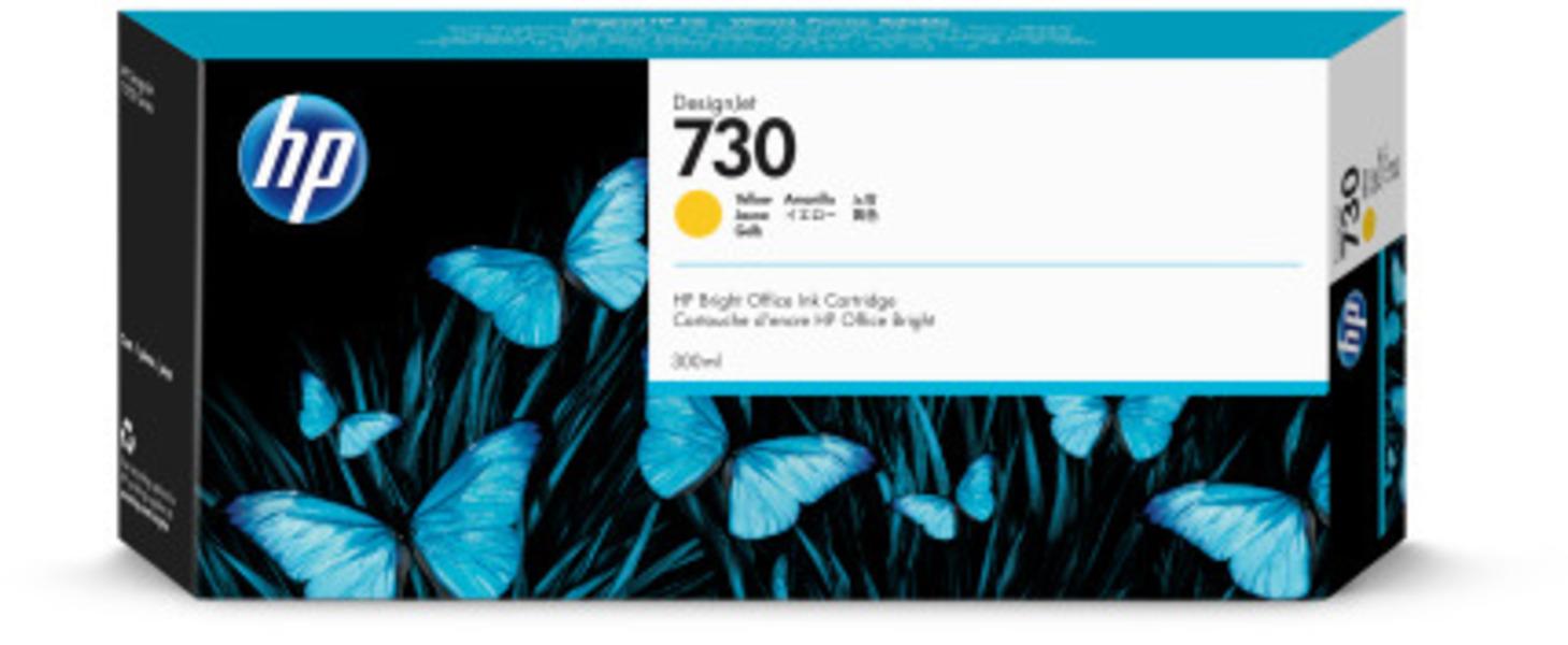 HP 730 300 ml Tinte Gelb P2V70A