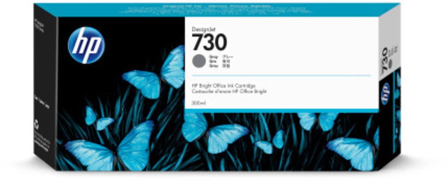 HP 730 300 ml Tinte Grau P2V72A