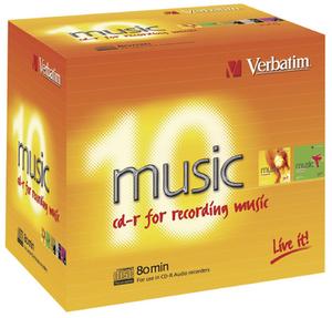 Verbatim CD-R Audio Medien 10 Pack 700MB/80Min. 43365