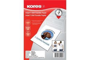 KORES T-Shirt Transferpapier, InkJet, A4, 5 Blatt FX81005