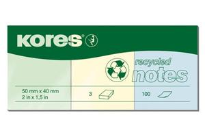 KORES NOTES recycling 50x40mm N47350