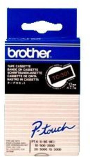 Brother PTOUCH Band, laminiert gold/schwarz BRTC301