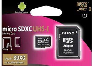 SONY MicroSDHC 64GB Class10 UHS-I SR64UYA