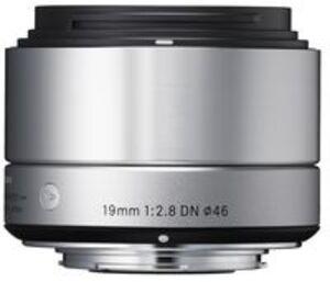 SIGMA 19mm / f 2.8 DN silber Olympus MFT 40S963